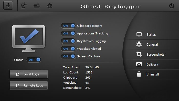 Ghost Keylogger full screenshot